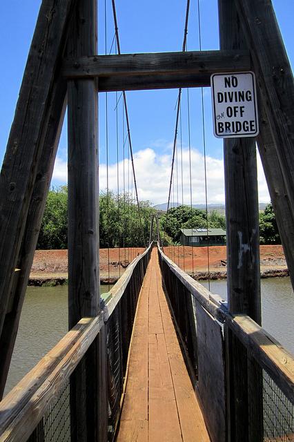 Hanapepe Swinging Bridge Life Built Poems