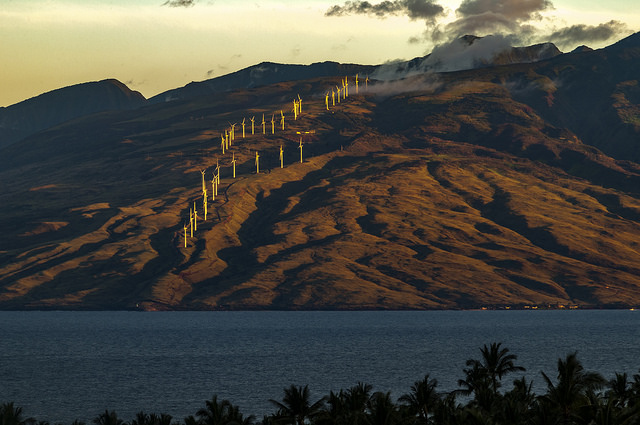 west-maui-windmills at sunrise
