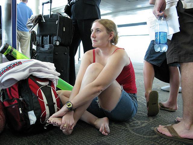 clutching-her-foot